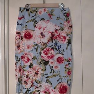 Floral 7TH Avenue New York & Company Pencil Skirt